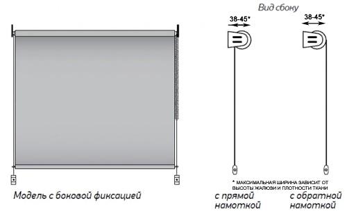 Рулонные шторы мини с боковой фиксацией на раму окна